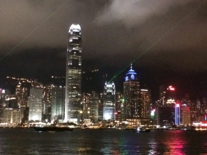 Nighttime view across the Harbour as we returned home from exploring -- the kind I like best