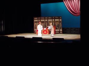 """Lu Junzhan and Yang Baohua in """"Interrogating Tao"""". from """"The White Gauze Robe"""", Haifeng Baizi Opera Troup of Guangdong."""