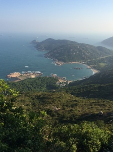It's not all work and no play for us!  This was taken from the top of Ling Kok Shan on Lamma Island. We climbed 350 meters above sea level. And felt it the next day.