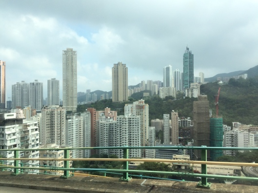 A view from the shuttle on the way down to our Wan Chai stop.