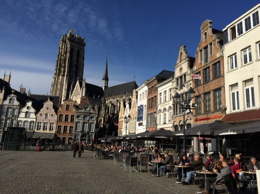 Mechelen's Grote Markt on a beautiful November day
