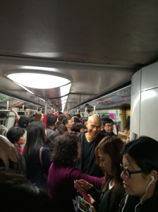 A casual Sunday afternoon ride on the MTR. Amazingly, I am not bothered by the crowds.
