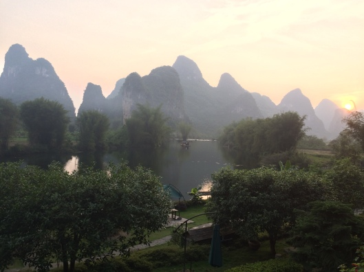 The view from our balcony at Yangshuo Mountain Retreat