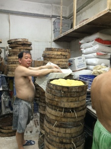 A lot of the time, you really need to know what you are looking for. This is one of the oldest noodle-making shops in HK, but I would never have known it from the outside!