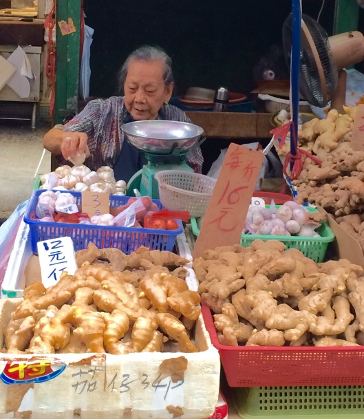 This woman in her 80s has been selling ginger in Mong Kok for decades.
