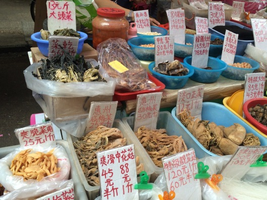 Some of the mysterious (to me) foods in the market