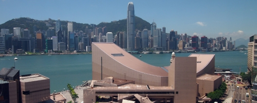 The HK Cultural Centre, opened in 1989, is the city's major multi-purpose performance facility. It occupies one of the most coveted sites in HK, overlooking Victoria Harbour to the famous HK skyline -- and it doesn't have a SINGLE window!!*