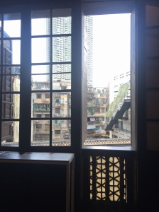 These were both taken from the Mandarin's House. It's hard to imagine that originally you could see the sea from the window.