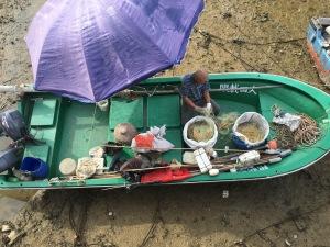 Fisherman in Tai O on the west side of Lantau Island