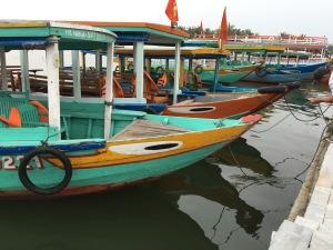 Boats in Hoi An, Vietnam