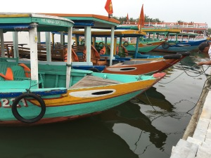 Boats in Hoi An, Vietnam